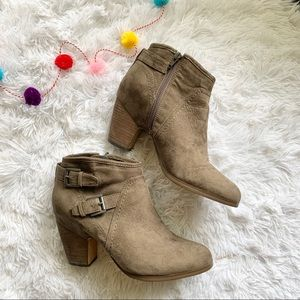 Crown Vintage Karissa ankle heel boots brown suede